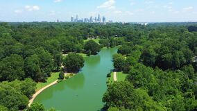 Aerial view of Freedom Park in Charlotte North Carolina