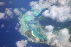 Aerial French Polynesia Royalty Free Stock Photography