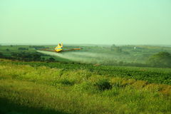 Aerial fumigation Royalty Free Stock Photography