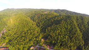Aerial Gatlinubrg Tennessee Smokey Mountains stock video footage