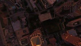 Aerial Georgia Atlanta. Aerial video of downtown Atlanta in Georgia at sunset/evening