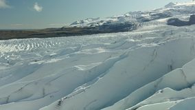Glacier in Iceland stock footage
