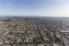 Aerial of Glendale near Los Angeles California Royalty Free Stock Image