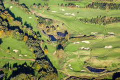 Aerial Golf Course. Aerial view of a Golf Course, UK Stock Images