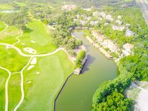 Aerial golf course county club Austin, Texas, USA Royalty Free Stock Photography
