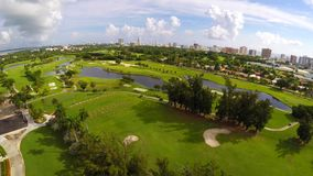 Aerial Golf Course 4k stock footage