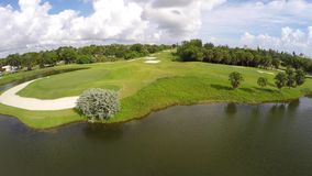 Aerial Golf Course 4k stock video footage