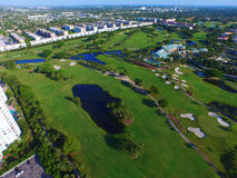 Aerial Golf course photo Stock Photos