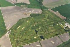 Aerial of Golf range in schwechat, Vienna Stock Photos