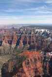 Aerial of the Grand Canyon. Grand Canyon Arizona aerial Stock Image
