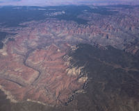 Aerial of the Grand Canyon Royalty Free Stock Image