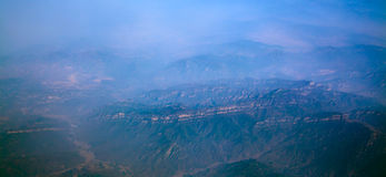 Aerial great mountain shanxi  china Stock Image