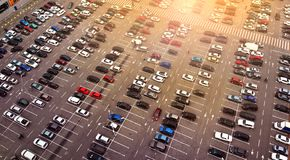 aerial Großer Parkplatz stockfotos