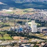 Aerial of Gross-krotzenburg power station Royalty Free Stock Photography