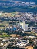 Aerial of Gross-krotzenburg power station Stock Photos