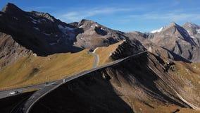 Aerial of Grossglockner road, Austria stock video footage
