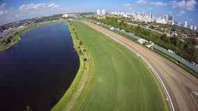 Aerial Gulfstream Race Track Hallandale stock footage