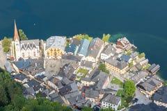 Aerial Hallstatt Austria Stock Photo