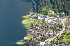 Aerial Hallstatt Austria Royalty Free Stock Photos