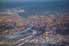 Aerial of Hamburg Stock Photography