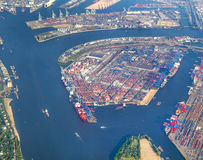 Aerial of Hamburg Stock Images