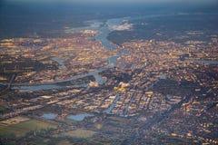 Aerial of Hamburg Stock Photo