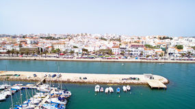 Aerial from the harbor in Lagos Portugal Stock Photos