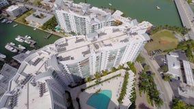 Aerial Harbour Island Miami Beach Stock Image