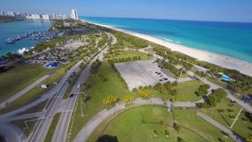 Aerial Haulover Park Miami 4k stock video footage