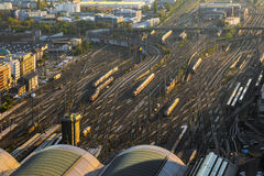 Aerial of the Hauptbahnhof Royalty Free Stock Photo