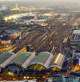 Aerial of the Hauptbahnhof Stock Images