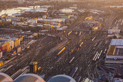 Aerial of the Hauptbahnhof Stock Photo