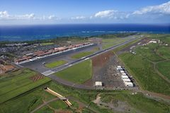 Aerial of Hawaii airport Royalty Free Stock Image