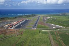Aerial of Hawaii airport royalty free stock photo