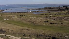 Aerial of Hayling Island Golf Course a links course