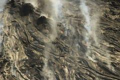 Aerial helicopter view of lava field near Kilauea volcano, Big Island, Hawaii. Aerial open helicopter shot of a lava field near the Kilauea volcano, Big Island Royalty Free Stock Photo