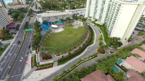 Aerial Heritage Park Sunny Isles Beach Stock Photo