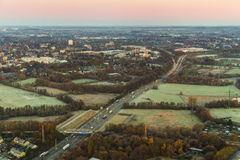 Aerial of highway on early morning Stock Photography