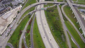 Aerial highway stock video footage