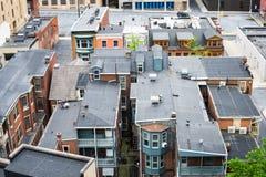 Aerial of Historic downtown Harrisburg, Pennsylvania next to the Stock Photo