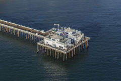 Aerial of Historic Malibu Pier Royalty Free Stock Photos