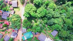 Aerial of Hmong Mountain Tribe Village, Chiang Mai, Northern Thailand 08