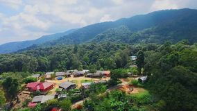Aerial of Hmong Mountain Tribe Village, Chiang Mai, Northern Thailand 01