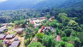 Aerial of Hmong Mountain Tribe Village, Chiang Mai, Northern Thailand 07