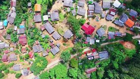 Aerial of Hmong Mountain Tribe Village, Chiang Mai, Northern Thailand 03