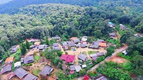 Aerial of Hmong Mountain Tribe Village, Chiang Mai, Northern Thailand 06