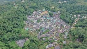 Aerial of Hmong mountain tribe village, Chiang Mai, Northern Thailand 09