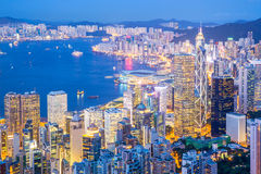 Aerial Hong Kong Cityscape Royalty Free Stock Photography