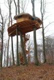 Aerial house in trees, Kačín Stock Image