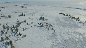 Aerial of the house in the tundra